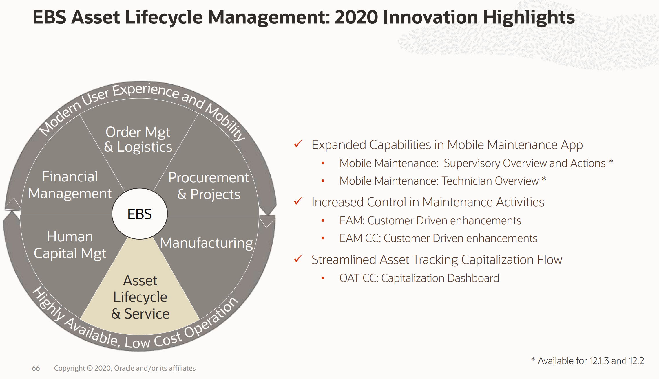 EBS Asset Lifecycle Management 2020 Innovation Highlights